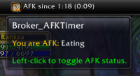 Broker AFKTimer for TitanPanel